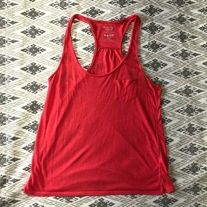 Pink AE tank top with breast pocket